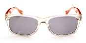 Robert Graham Sunglasses-Godfather-Crystal/Org Frame w/Gray Lns