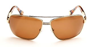 Robert Graham Sunglasses-SkyLine-Gold Wire Rims w/Fabric Temples