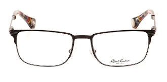 Robert Graham Milous Collection Black Wire Rim w/Pattern Temple