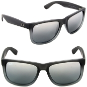 Ray Ban Justin Grey with Gray/Silver Gradient Lenses